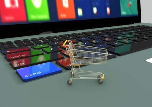 Shopping-cart-on-laptop